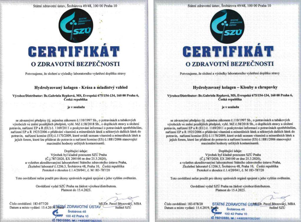 Certifikáty o zdravotní bezpečnosti - STARTES